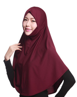 Agapeon Muslim Hijab Tudung Cotton&Linen Wine Red Price Philippines