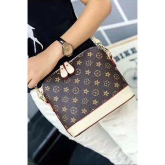 Harga Fashion Korean Handbag/Sling Bag (Coffee/Cream)