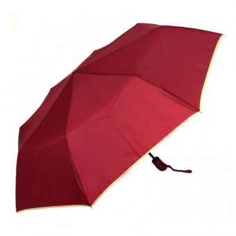 Harga London Fashion SPhil Plain Windproof Automatic Compact Umbrella (Red)