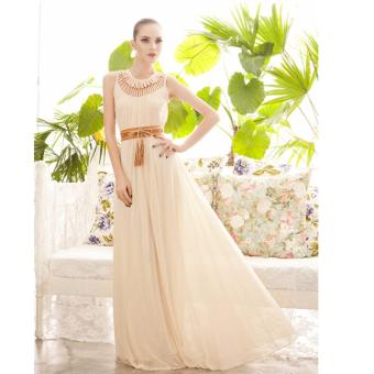 O-Neck Floor-Length Pleated Long Dress Price Philippines