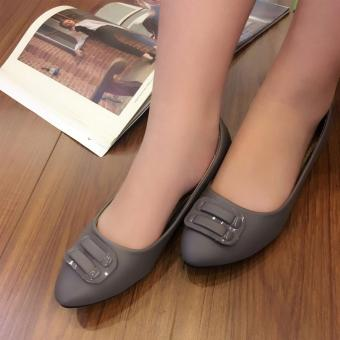 Harga Fantasy PS Flat Doll Shoes With Unique Buckle Design 081 (grey)