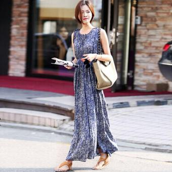 O-Neck Print Maxi Dress Price Philippines