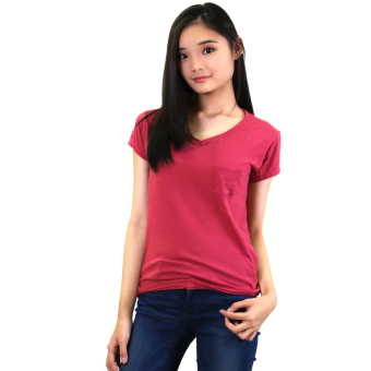 Harga Sabrina Soft Top Blouse (Hot Pink)