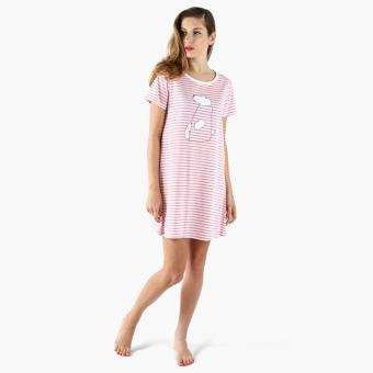 Harga Snooze Striped Polar Bear Night Dress (Pink)