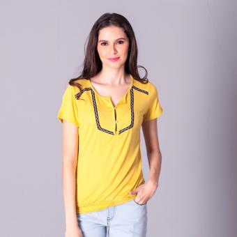 Harga No Apologies Knitted Jap. Cotton Blouse S/S (Mustard)