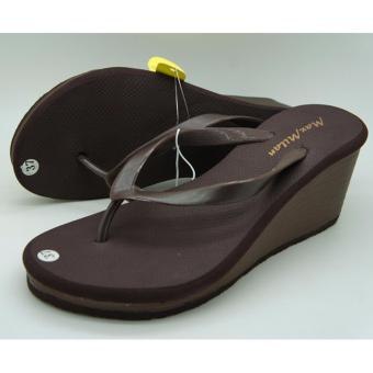 Harga Maxmilan Miley Wedge Slippers (Brown)