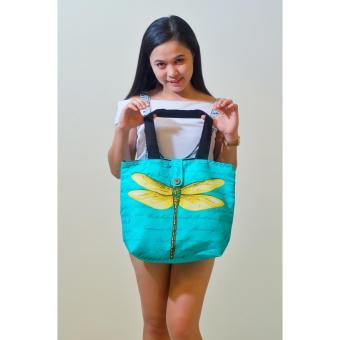 Butterfly Artweark Tote Bag (Teal) Price Philippines