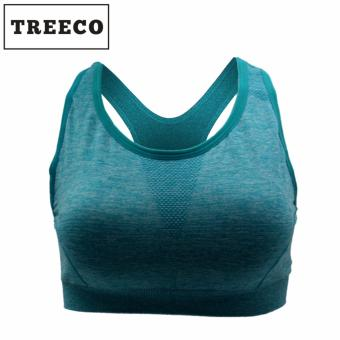 Treeco Fitness Seamless Active Sports Bra (Cyan) Price Philippines