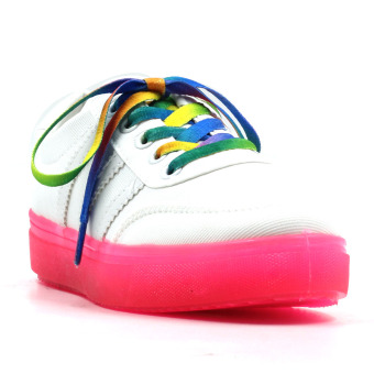 Harga New York Sneakers Cali Low Cut Shoes(WHITE/PINK)