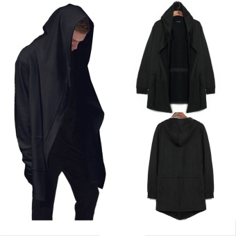 Harga Cardigan wizard Hoodies cloak cape coat -black
