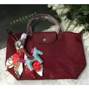 LC Long Le Pliage Champ Neo Medium Free Twilly & Charm Original (MAROON) Made in France SHORT HANDLE Price Philippines