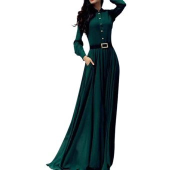 Women Vintage Kaftan Abaya Islamic Muslim Cocktail Long Sleeve Maxi Dress Price Philippines