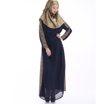Women Kaftan Abaya Muslim Dress Islamich Clothing Plus Size (Black) - intl Price Philippines