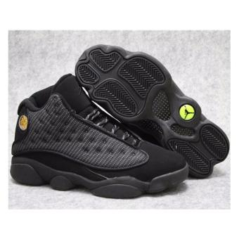 Harga Men Basketball Shoes For Jordan13 Sneakers(Black) - intl