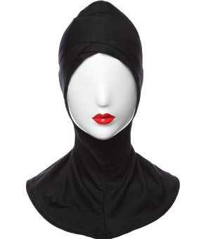 Agapeon Muslim fashion Inner Hijab Cap Inner Neck Double Cross Head Black Price Philippines