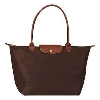 Longchamp Le Pliage Nylon Large Long Handle Shopping Tote Bag Large, LLH Chocolate Brown Price Philippines