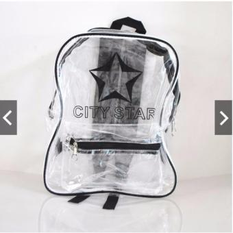Harga City Star Transparent VinylClear Backpack (Black)