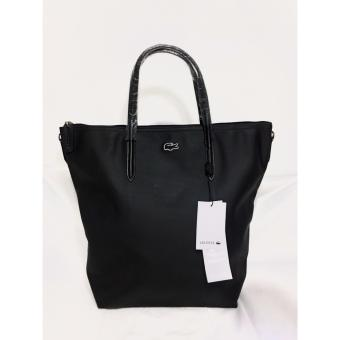 LACOSTE WOMEN'S L.12.12 CONCEPT VERTICAL TOTE BAG BLACK Price Philippines