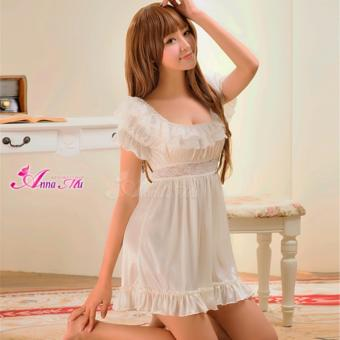 Anna Mu Lingerie Set Babydoll Romantic Sleepwear Sweet Precious White Price Philippines