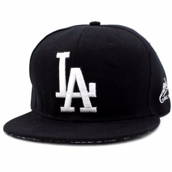 Harga Cap City Hip-hop Snapback LA Los Angeles Baseball Cap (Black/White)