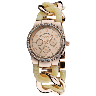 Harga Akribos XXIV Lumin Women's Two Tone Alloy and Resin Twist Strap Watch AK562RG
