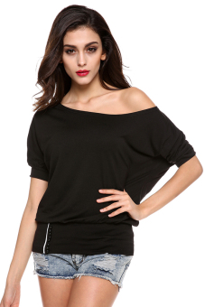 Cyber Women's Off Shoulder Blouses Shirt (Black) Price Philippines