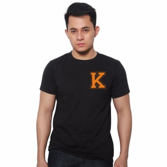 T-shirt ni Juan Pocket Letter K (Black Orange) Price Philippines