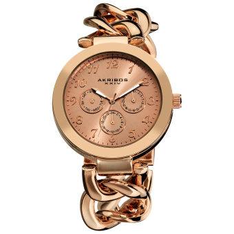 Harga Akribos XXIV Women's Rose Gold Alloy Twist Strap Watch AK644RG