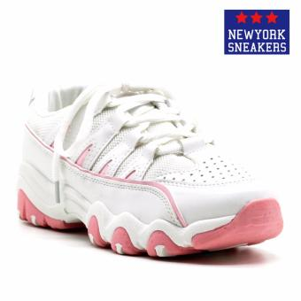 Harga New York Sneakers Balding Rubber Shoes(WHITE/PINK)