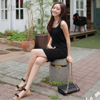 LALANG Women Sexy Package Hip Dress Slim Slip Dress (Black) Price Philippines