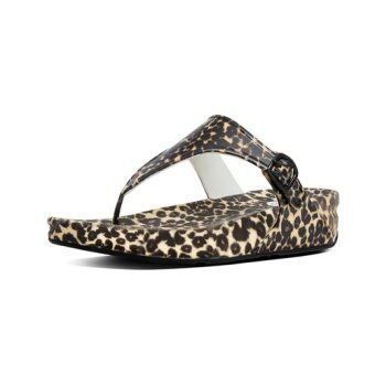 Harga Fitflop Women's Superjelly Twist Leopard Slippers (Brown)