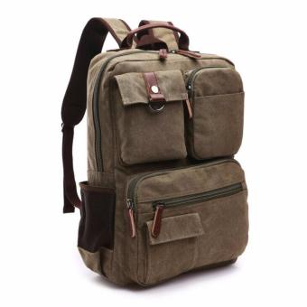 Harga BACKPACK / LAPTOP BAG / CANVASS BAG/ SCHOOL BAG MG8678 PIERSON [ARMYGREEN]