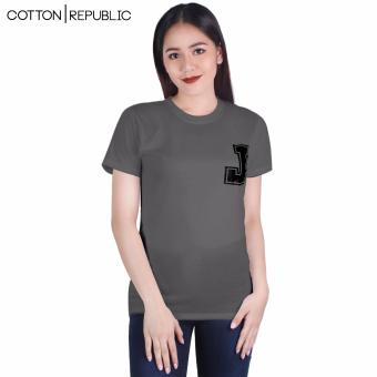 Cotton Republic Your Initial - Letter J (Grey) Price Philippines