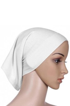 Bluelans Islamic Muslim Women's Head Scarf Cotton Hijab Cover Headwrap Bonnet White - Intl Price Philippines