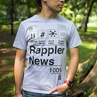 Harga Rappler Xchange 100% Fresh Cotton T-Shirt (Gray)