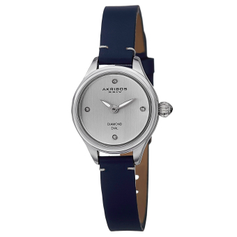 Harga Akribos XXIV Empire Women's Blue Leather Strap Watch AK750BU Watch