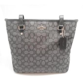 Coach Outline Signature Zip Top Tote Shoulder Bag F55364 (Grey) Price Philippines