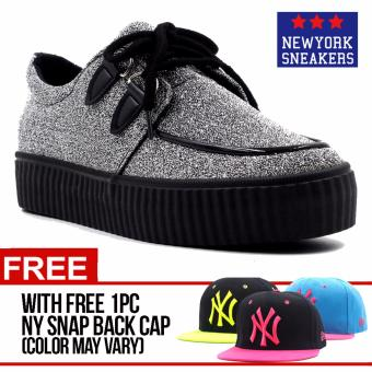 Harga New York Sneakers Riley(SILVER) with FREE NY CAP