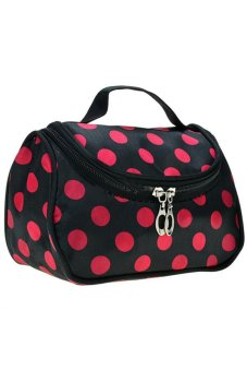 Harga Cosmetic Bag (Black/Pink)