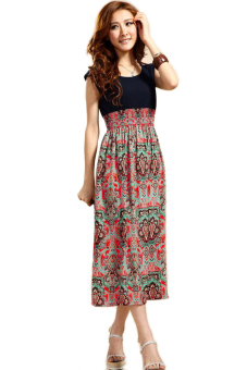 Cyber Flower Printed Bohemia Long Dress (Multicolor) Price Philippines