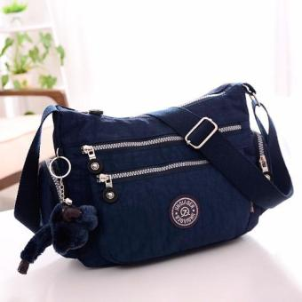 Harga Skadi JQE-8616 Side Pockets Korean Fashion Bag Nylon Waterproof Big Size Multi-pocket Bag Crossbody Shoulder Hand Bag Best Gift With Free Bag Charm(Royal Blue)