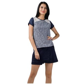 Plains & Prints Moss Short Sleeves Top (Navy) Price Philippines
