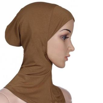 Under Scarf Hat Muslim woman Hijab Islamic Head Wear Neck Cover Camel - intl Price Philippines