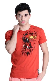 Harga Brit London Roundneck T-Shirt (Orange)