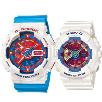 Casio G-Shock GA-110AC-7A and Baby-G BA-112-7A Couple Resin Strap Watch Blue Price Philippines