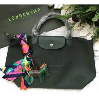 Longchamp Le Pliage Neo Medium Free Twilly & Charm Original (MOSS GREEN) Made in France Price Philippines