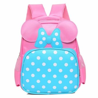 mini polka design bagpack fo kids ( Light pink) Schoolbag Kids Children Back To School Price Philippines