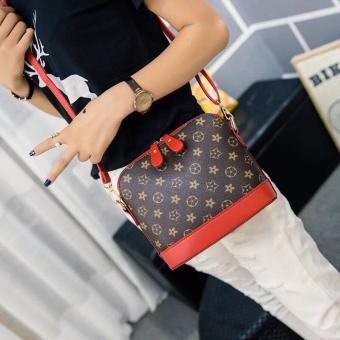 Harga New Fashion Korean Handbag/Sling Bag(Coffee/Red)