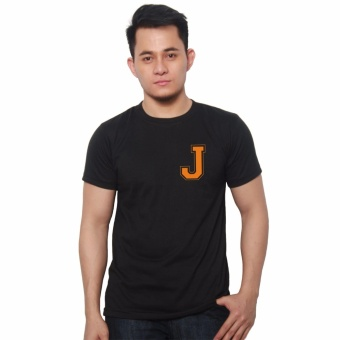 T-shirt ni Juan Pocket Letter J (Black Orange) Price Philippines