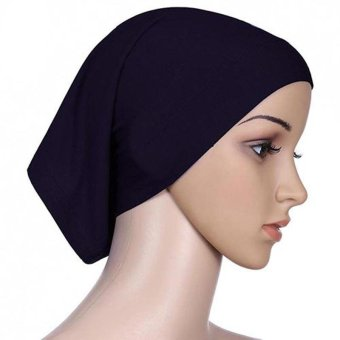 Amart Women Muslim Hat Cotton Under Scarf Bonnet Neck Cover(Black) - intl Price Philippines